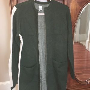 Anthropologie Andrea Sweater $170 green cardigan